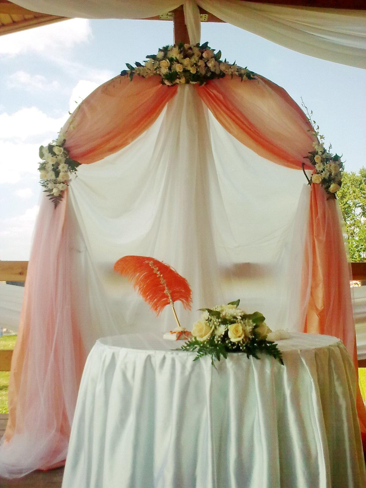 Свадебная арка своими руками фото пошагово