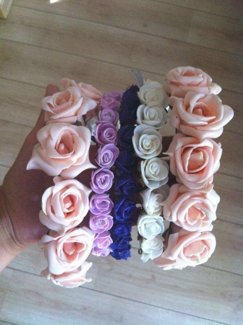 Обруч своими руками с розами из