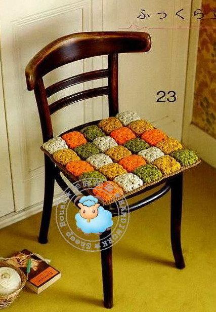 Вязанные подушки для стульев своими руками 34