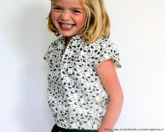 Как сшить блузку девочке 6 лет 11