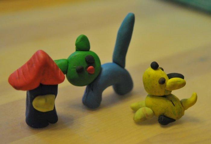 Поделки с малышами из пластилина
