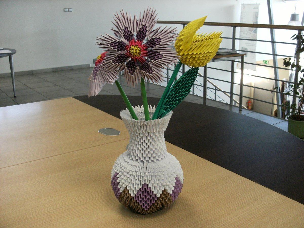Как из модульного оригами сделать вазу схема