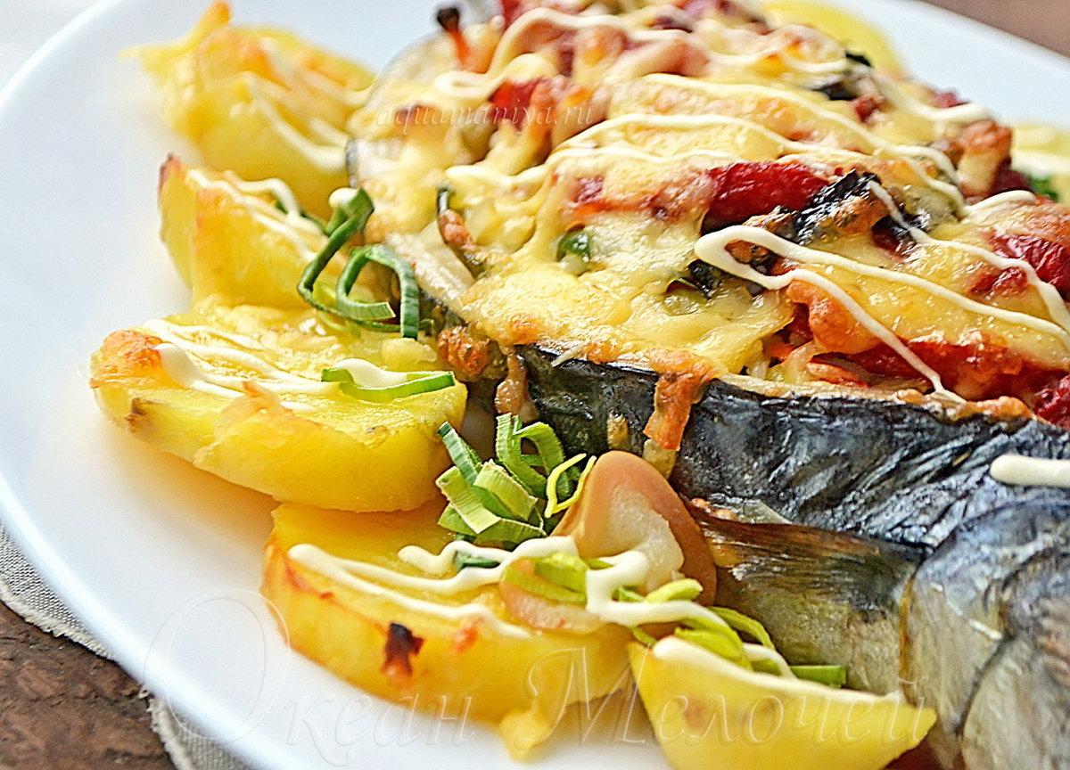 Скумбрия под овощами рецепт пошагово