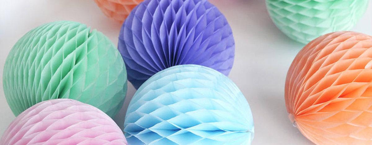 Как сделать  шары из тишью 155