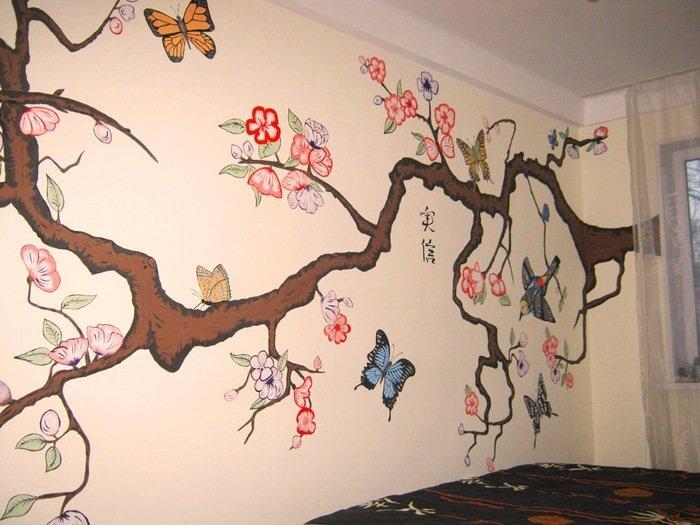Простые рисунки на стенах своими руками фото 660