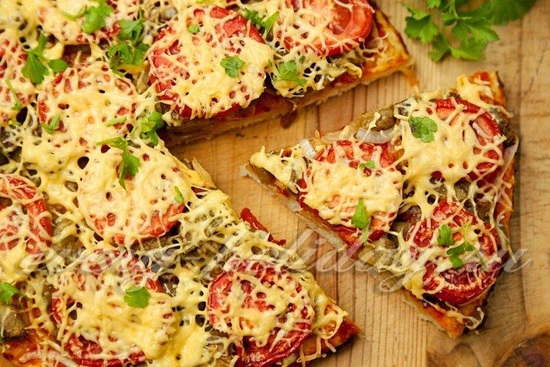 Пицца с сыром и овощами рецепт