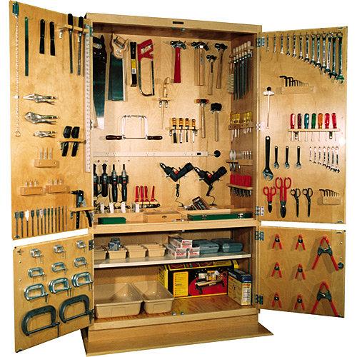 Изготовление шкафа для инструментов своими руками