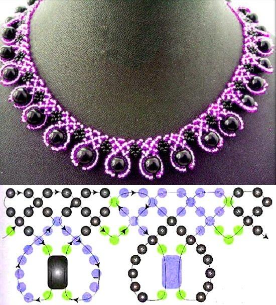 Ожерелье из бусин и бисера своими руками