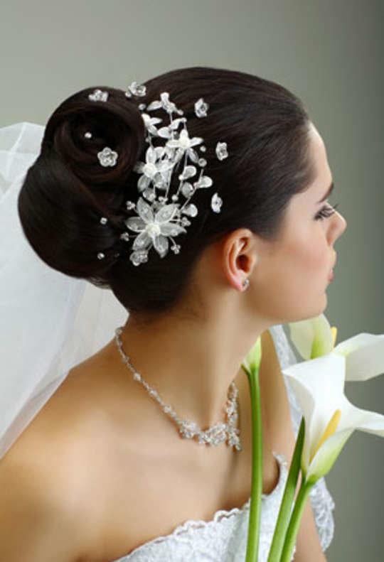 Аксессуары на свадебную прическу