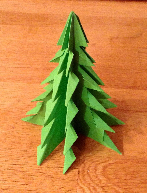 Поделки из оригами на елку