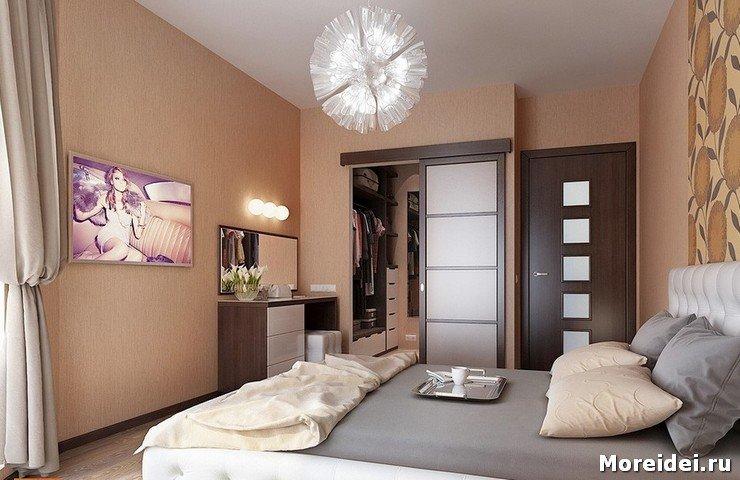 Дизайн спальни с гардеробом фото