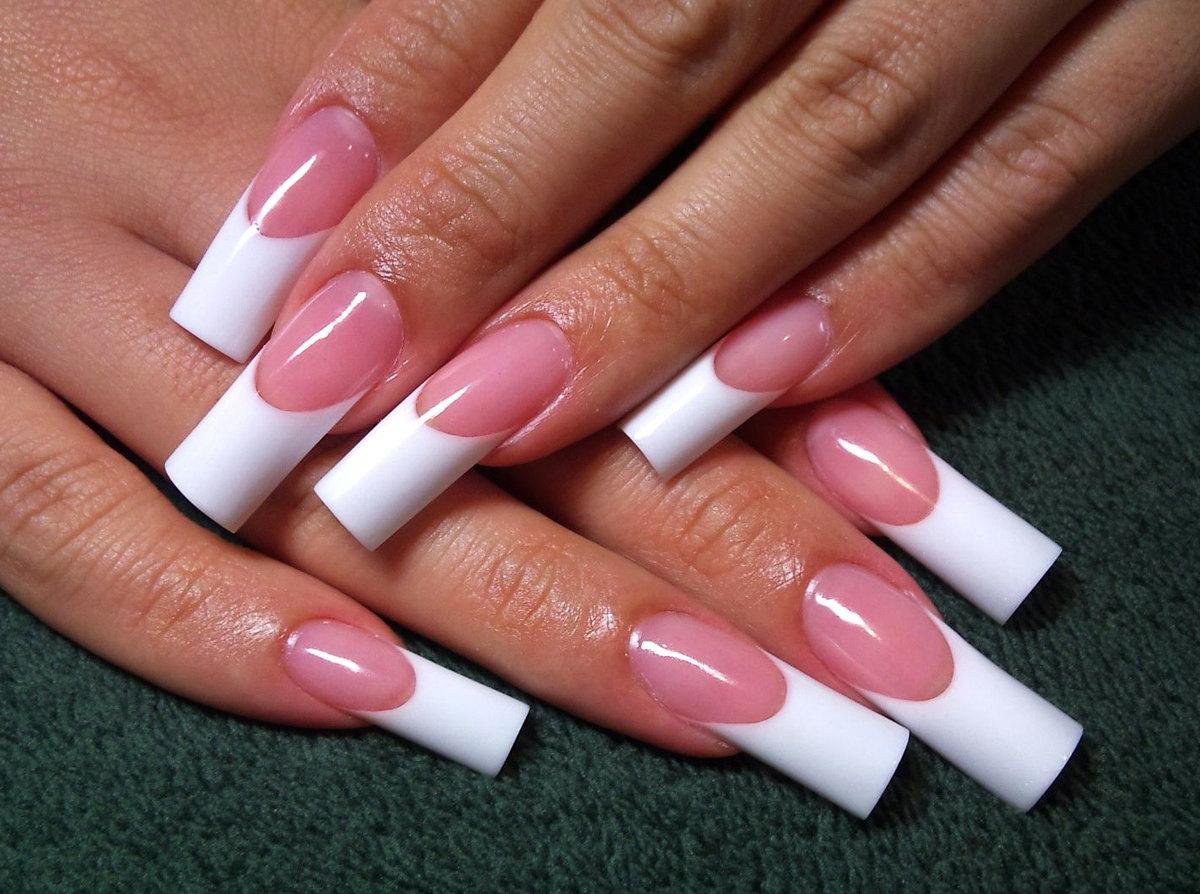 Нарощенные ногти фото дизайн французский