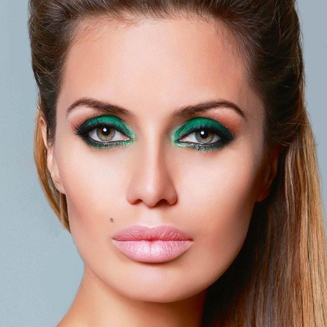 Макияж для зеленых глаз и квадратного лица