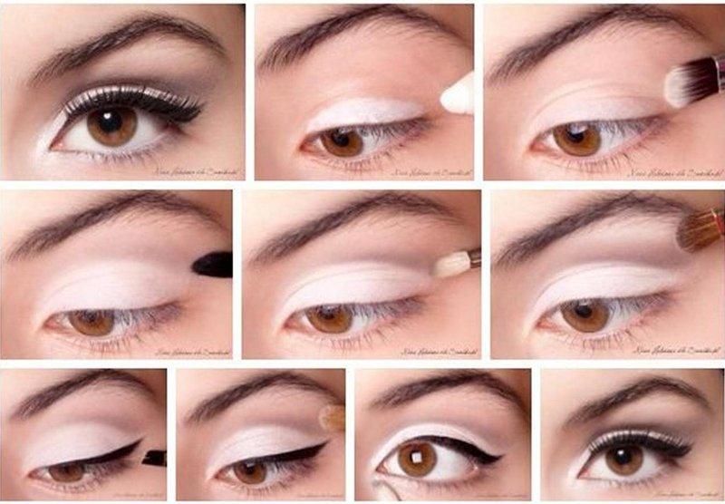 Макияж для светлых глаз пошаговое в домашних условиях
