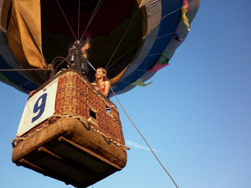 Подарок впечатление полет на воздушном шаре 100