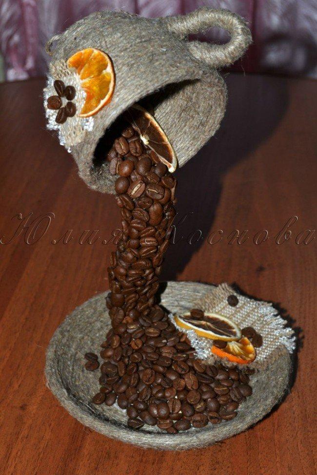 Поделки своими руками из зерен кофе мастер класс