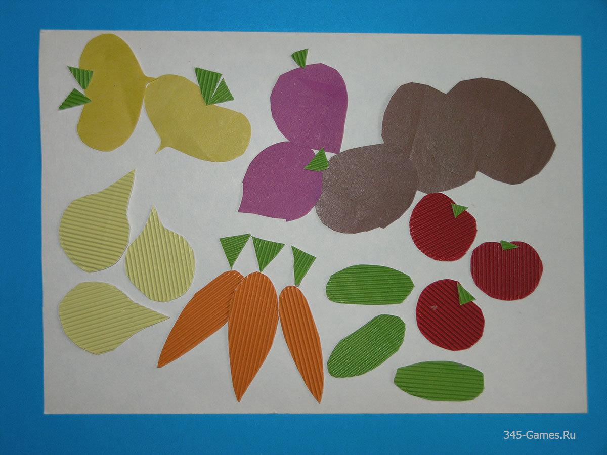 Поделка из бумаги на тему овощи и фрукты 878
