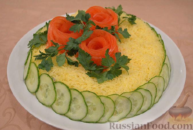 Праздничный салат с днем рождения рецепт с