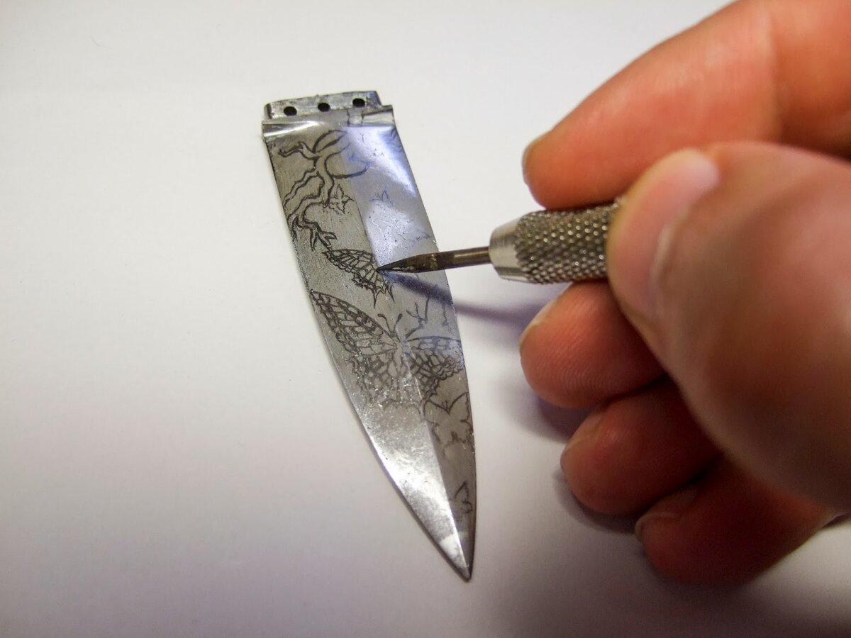Как сделать рисунок для ножа 88