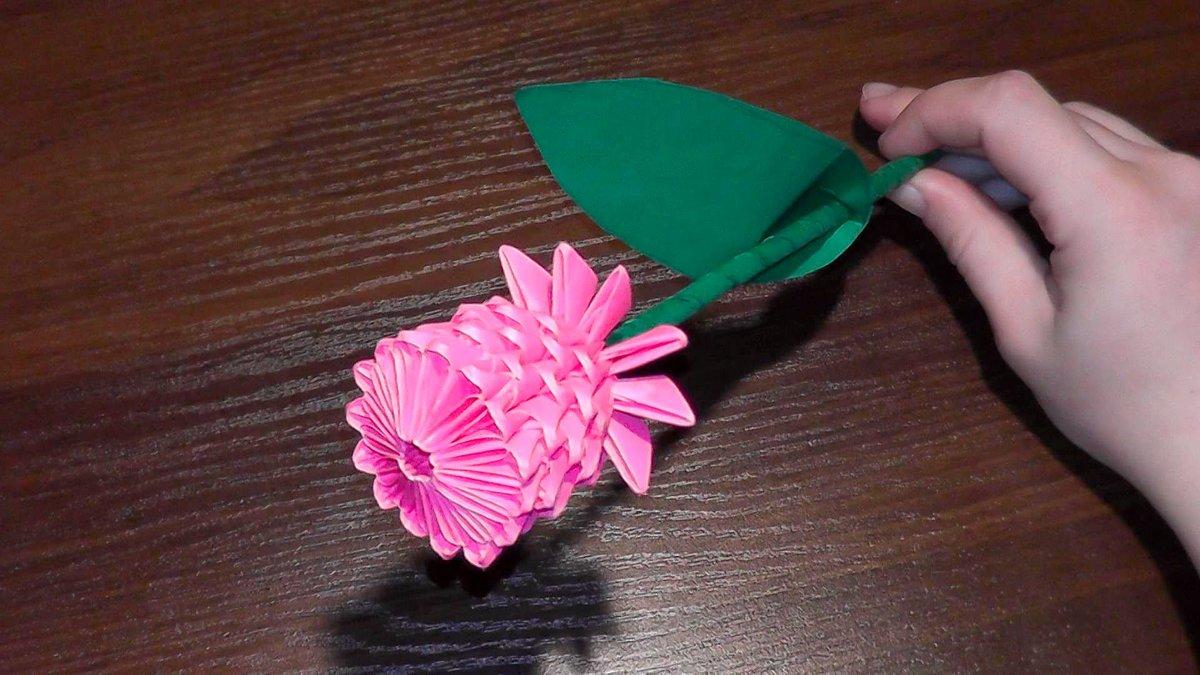 3d цветы своими руками 70