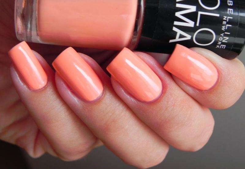 Персиковый цвет лак для ногтей 111