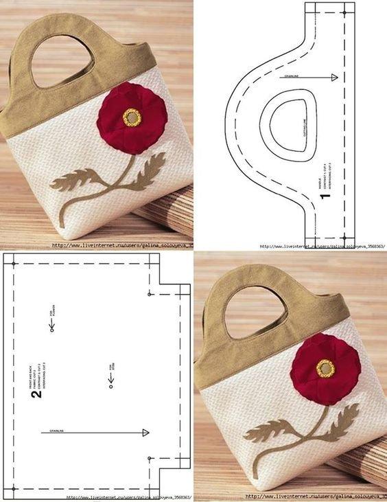 Как сделать выкройку сумки из ткани своими руками 92