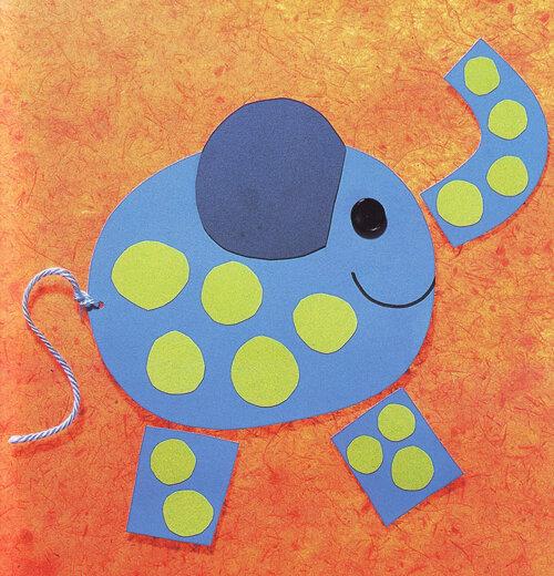 Поделки из цветного картона для детей 4 лет