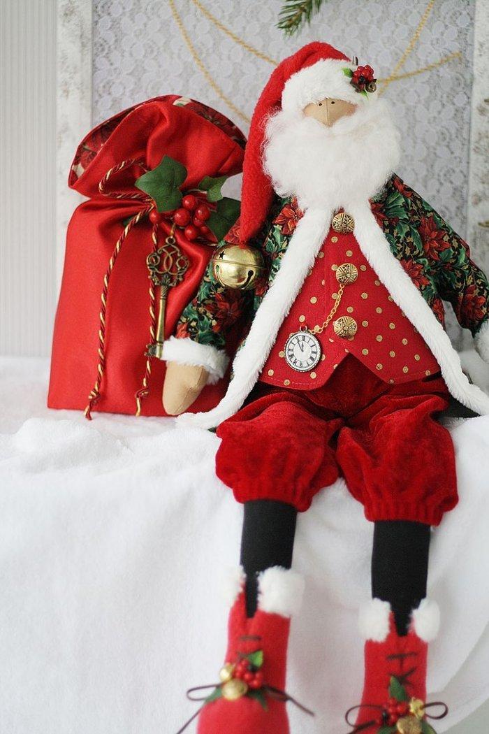 Как сшить Деда Мороза своими руками. Выкройка Дед Мороз / Мастер-класс