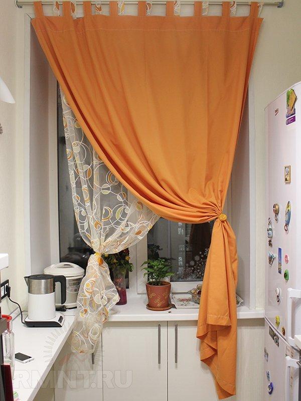 Какие можно сшить шторы для кухни 17