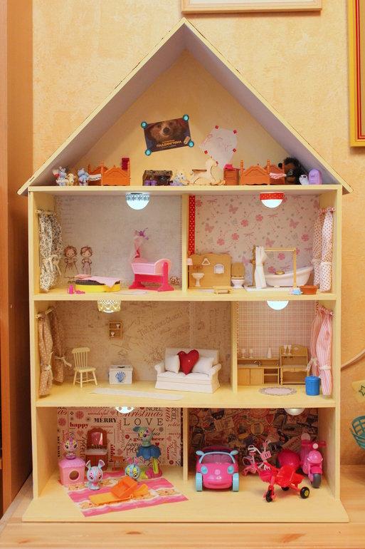 Домики для кукол своими руками фото из коробки