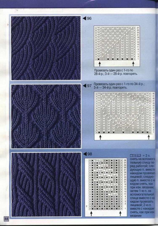 Вязание на спицах узоры схемы мужское