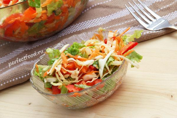Салат капуста морковь помидор