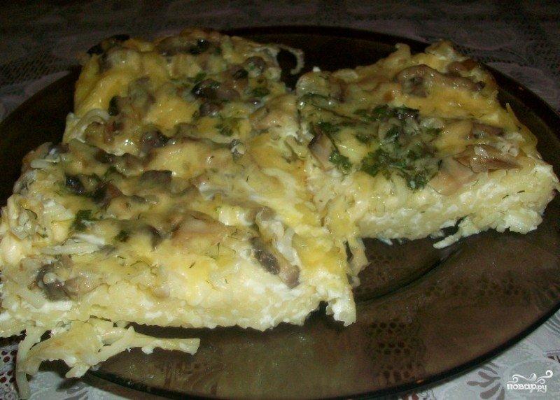 Рецепт запеканки макароны и грибы