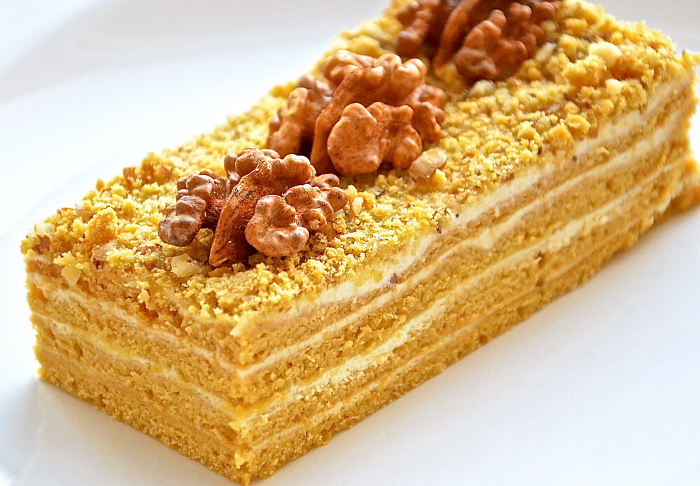 Торт медовик с мёдом
