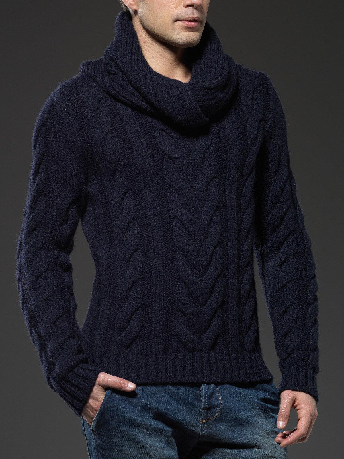 Вязание модных джемперов для мужчин