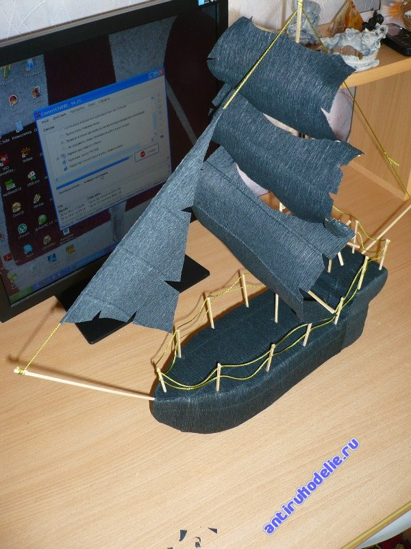 Как сделать большой корабль из бумаги своими руками поэтапно фото 88