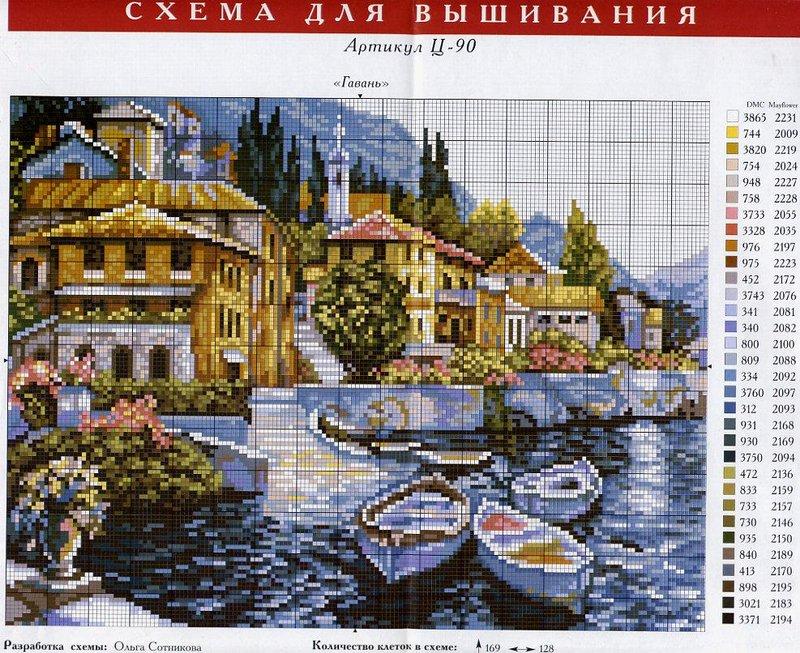 Вышивка крестом схемы только картин 635