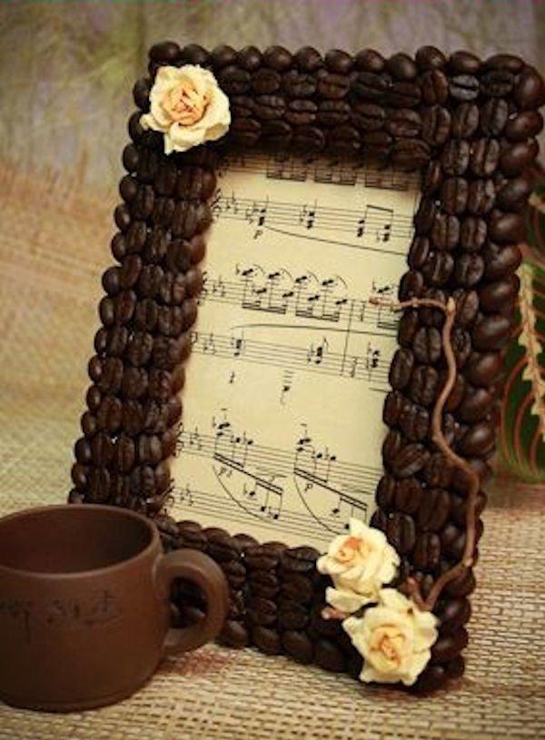 Фоторамка из кофейных зерен своими руками
