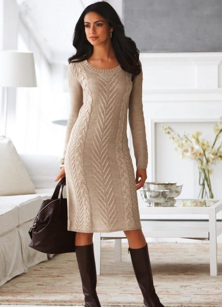Вяжем стильное платье