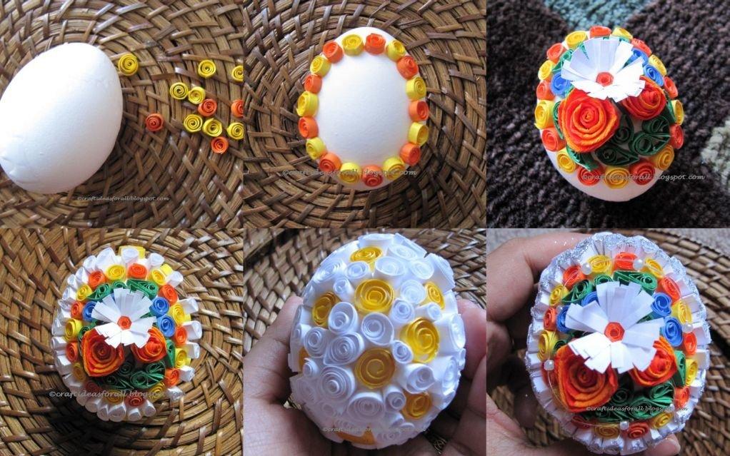 Украшаем пасхальное яйцо своими руками 355