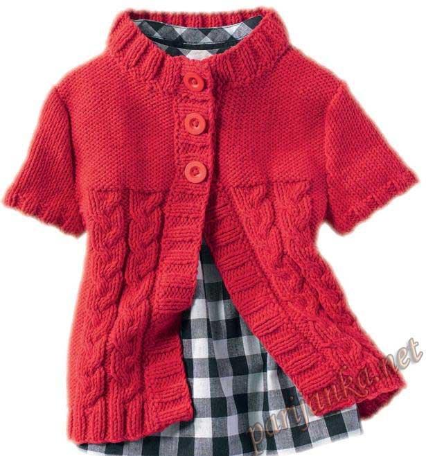 Вязание жилет для девочки 86