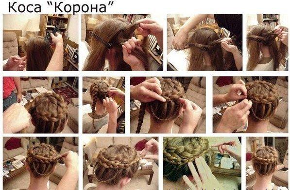 Плетение кос своими руками для девочек