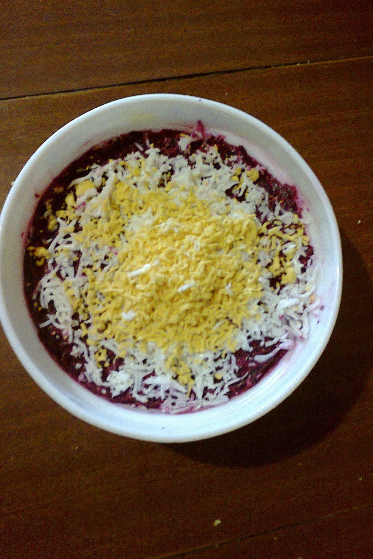 Салат овощной слоями пошаговый рецепт