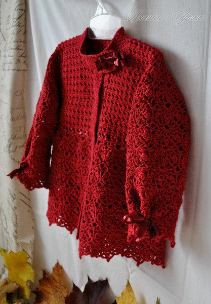 Кофта вязание крючком осень 35