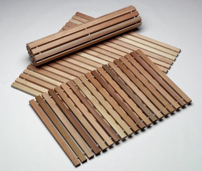 Коврик для бани деревянный