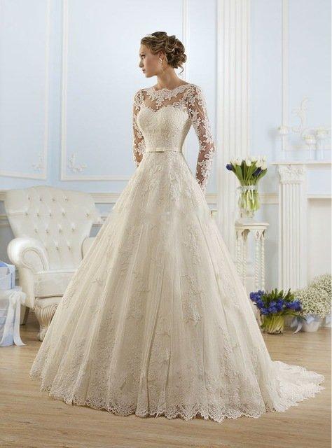 Свадебные платья кружевные каталог
