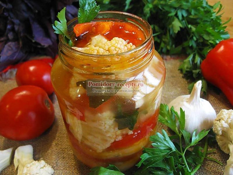 Рецепт с цветной капустой салат на зиму