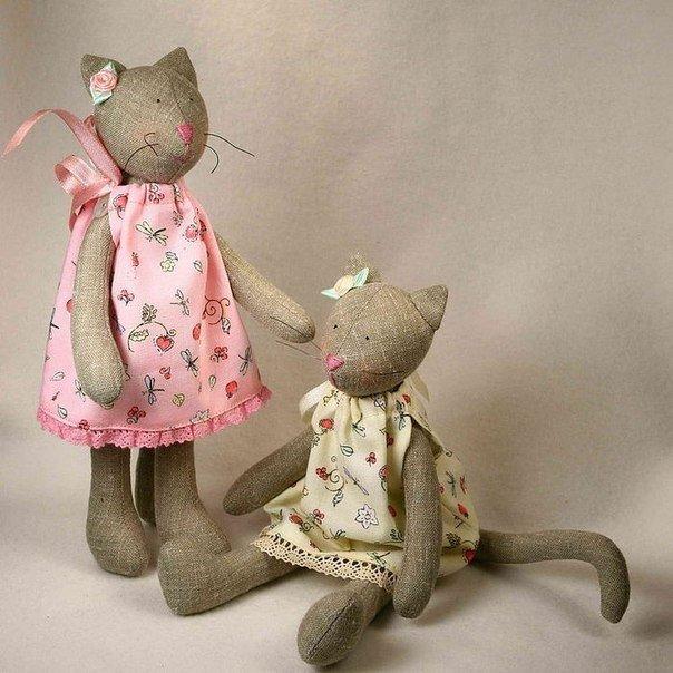 Кукла тильда кот