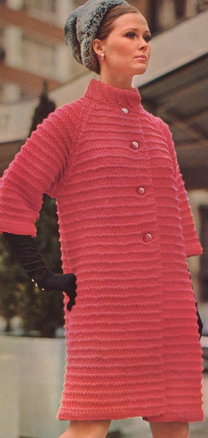 Вязание на спицами пальто для 24