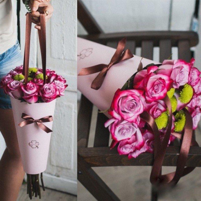 Цветы в пакете своими руками 19